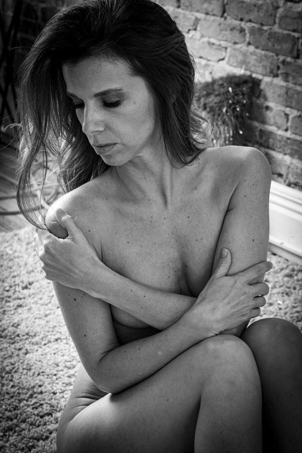 moment of acceptance artistic nude photo print by photographer thomas branch