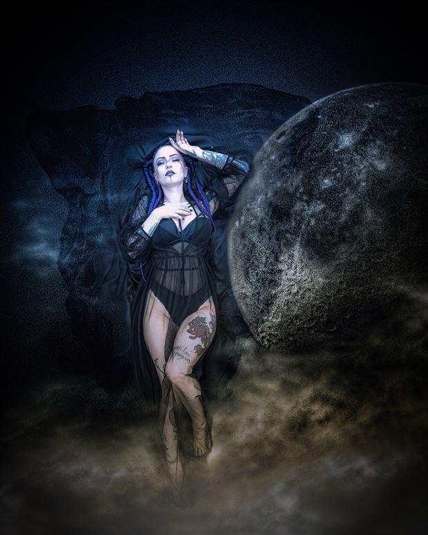 moon goddess lingerie photo print by photographer ken greenhorn
