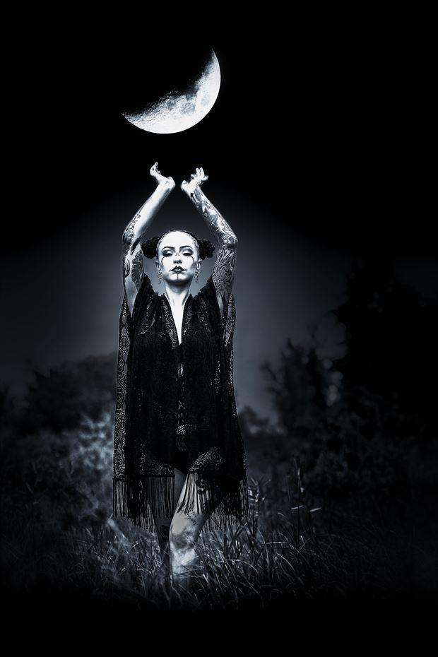 moon goddess tattoos photo print by photographer ken greenhorn