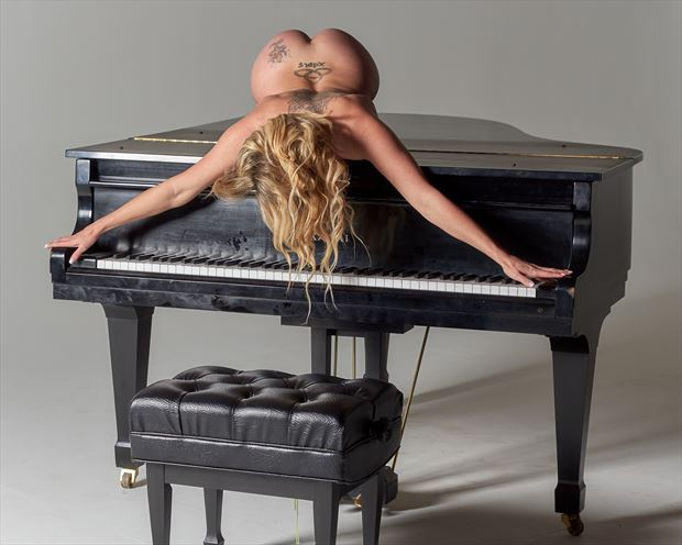 music lover artistic nude photo print by photographer teb art photo