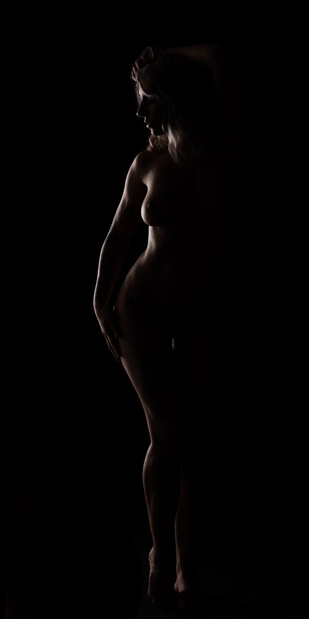 my curves in darkness artistic nude photo print by photographer arcis