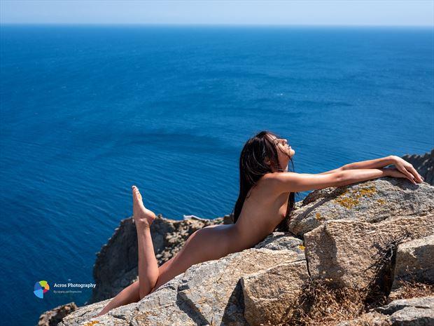 mykonos blue artistic nude photo print by photographer acros photography