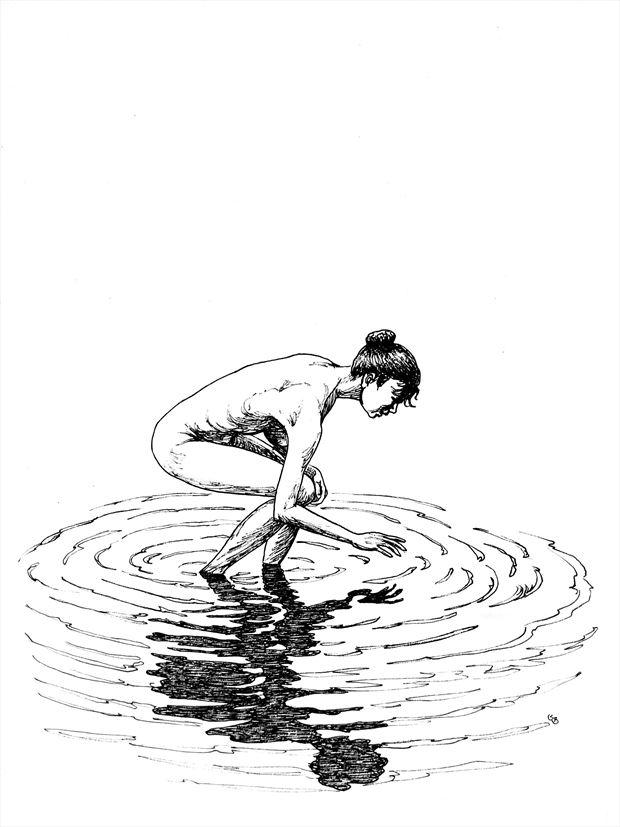 naiad artistic nude artwork print by artist subhankar biswas