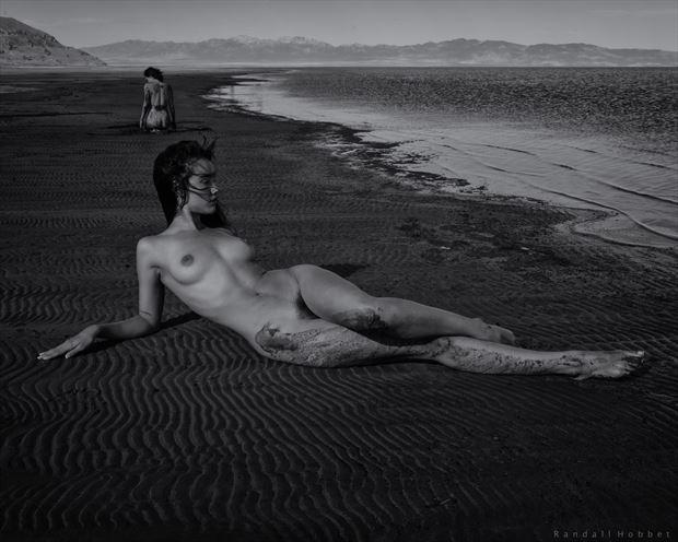 nausicaa on the beach artistic nude photo print by photographer randall hobbet