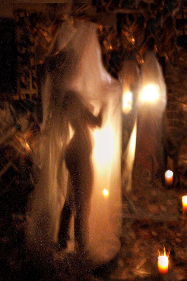 nigth in the joseph auquier atelier of painting artistic nude photo print by photographer joseph auquier