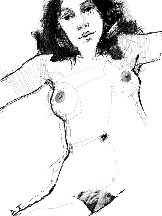 nude artistic nude artwork print by artist jond