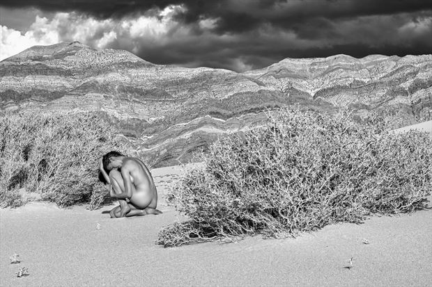 nude dunes and last chance mountains artistic nude photo print by photographer philip turner