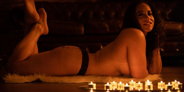 nude in candle light artistic nude photo print by photographer arcis