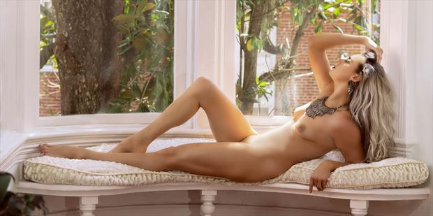 nude in the white window no 1 artistic nude photo print by model alexandra queen