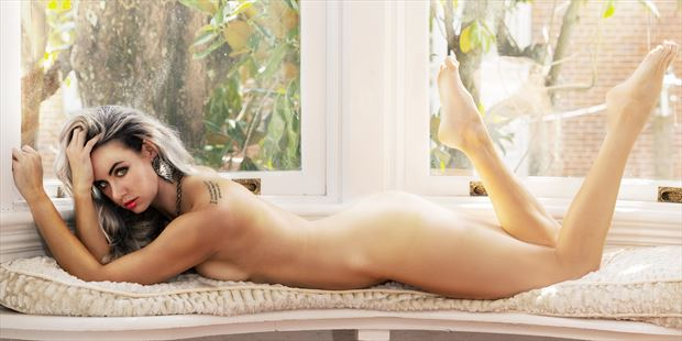 nude in the white window no 2 artistic nude photo print by model alexandra queen