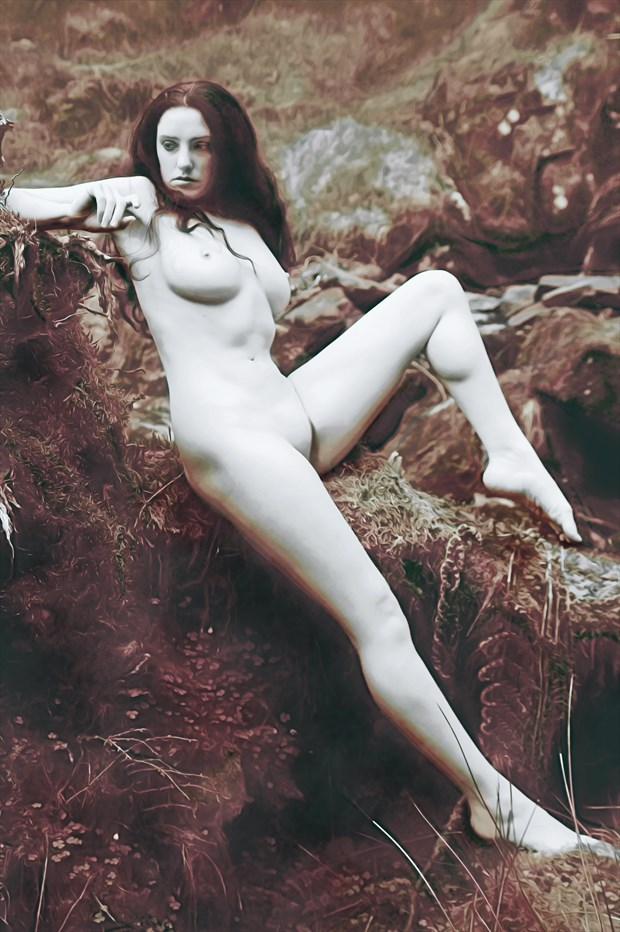 nymphatic relaxation artistic nude artwork print by photographer photorunner