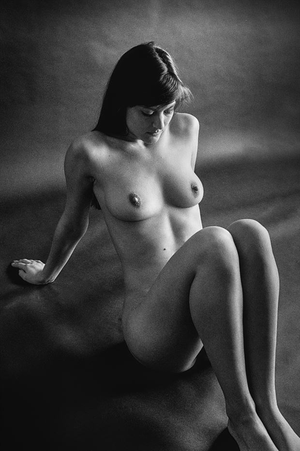 ok sit back and relax artistic nude photo print by photographer rick jolson