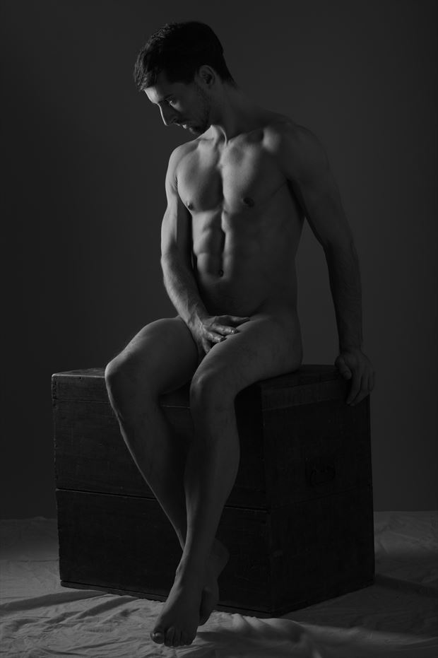 ominous time artistic nude photo print by model coma12