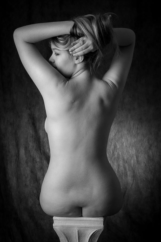 on a pedestal artistic nude photo print by photographer opp_photog
