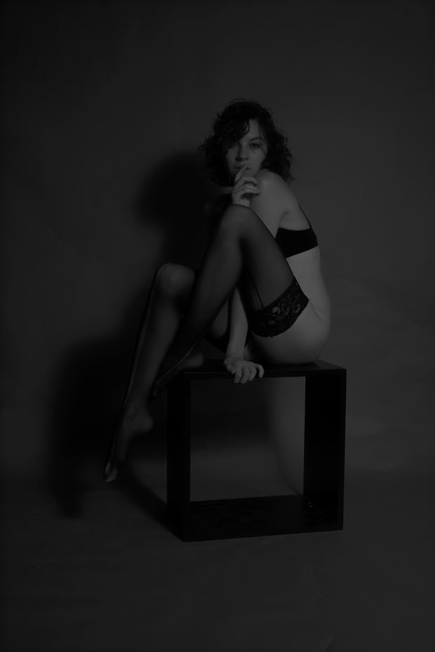 on her box naked tattoos photo print by photographer csdewitt buck