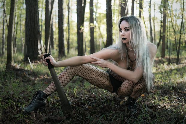 on the hunt glamour photo print by model alexandra queen