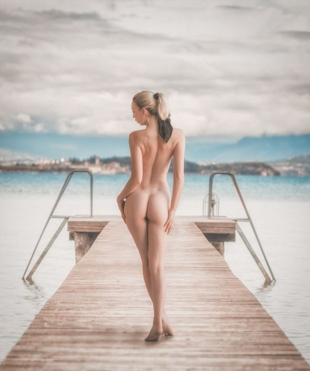 on the pier artistic nude photo print by photographer colin dixon