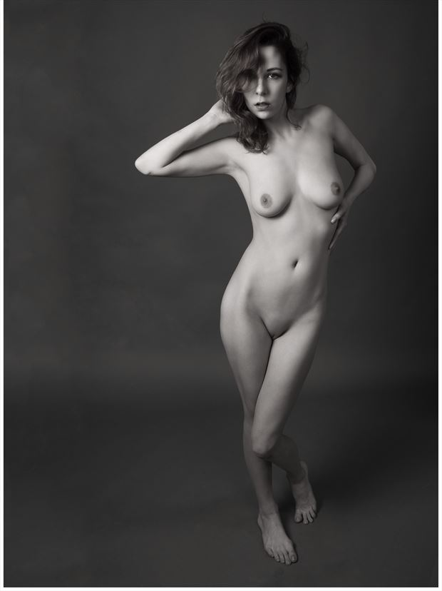 one foot on the floor artistic nude photo print by photographer tommy 2 s