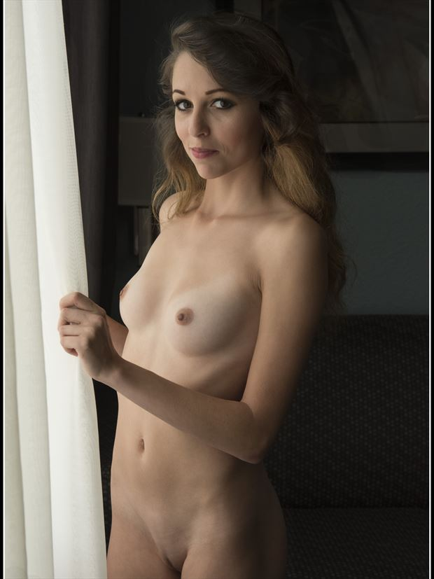 open the curtain artistic nude photo print by photographer tommy 2 s