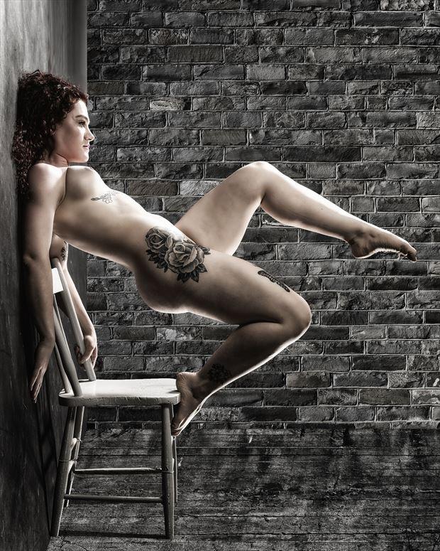 optics artistic nude photo print by photographer ken greenhorn