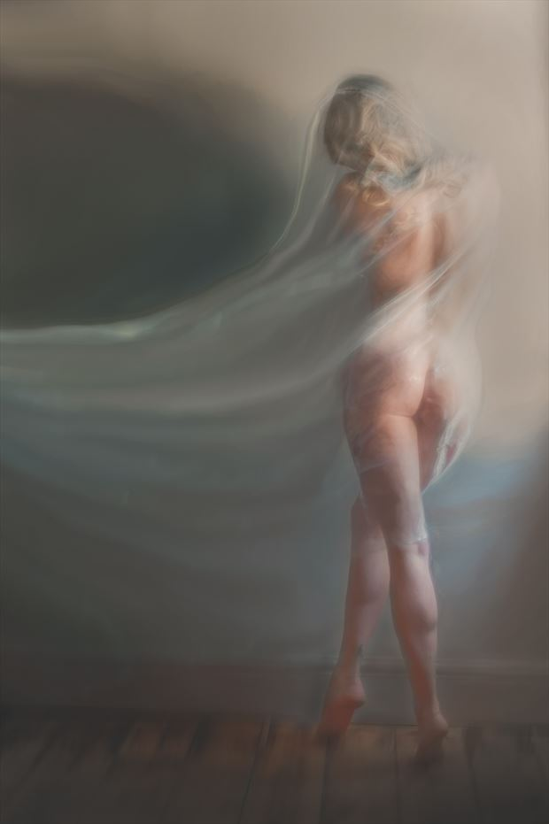 painted beauty artistic nude photo print by photographer colin dixon