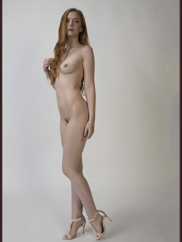 pink slipping artistic nude photo print by photographer tommy 2 s