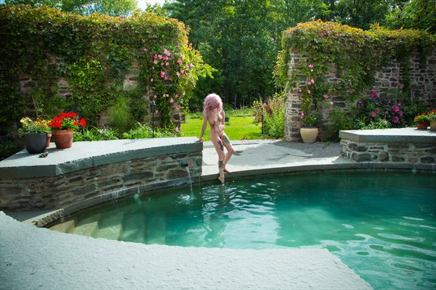 pool paradiso artistic nude photo print by photographer michael grace martin