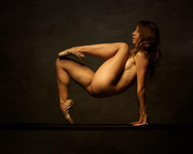 poppyseed dancer on the plank artistic nude photo print by photographer doc list
