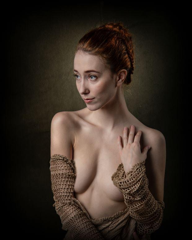 portrait of a woman lingerie artwork print by photographer photorp