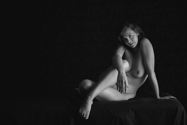 portrait of helen artistic nude photo print by photographer thebody photography