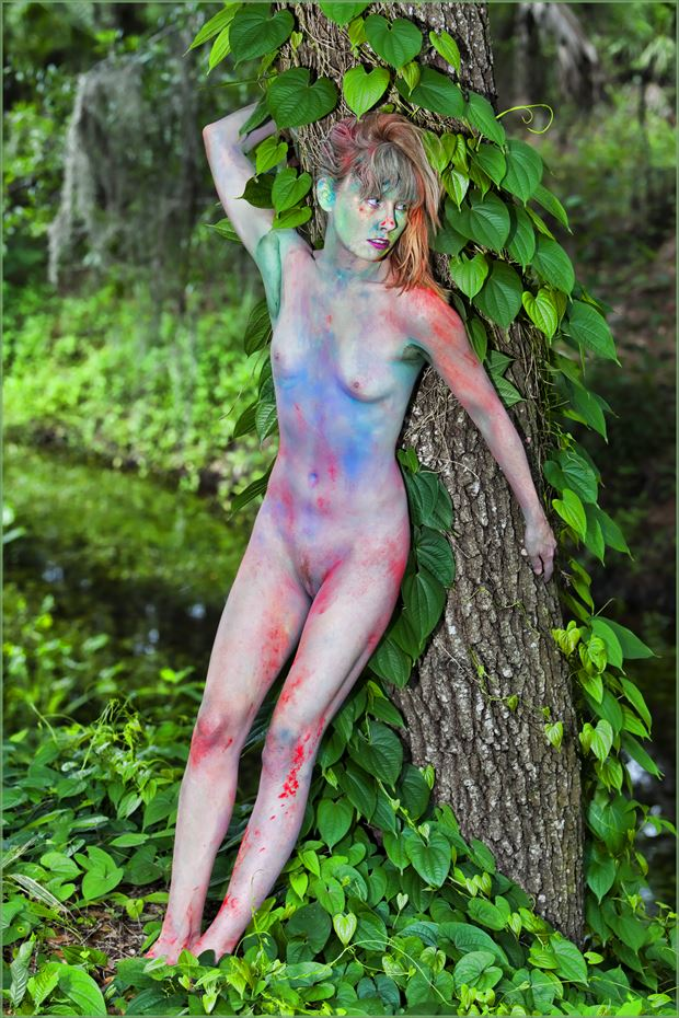 powder perfect artistic nude photo print by photographer dpaphoto