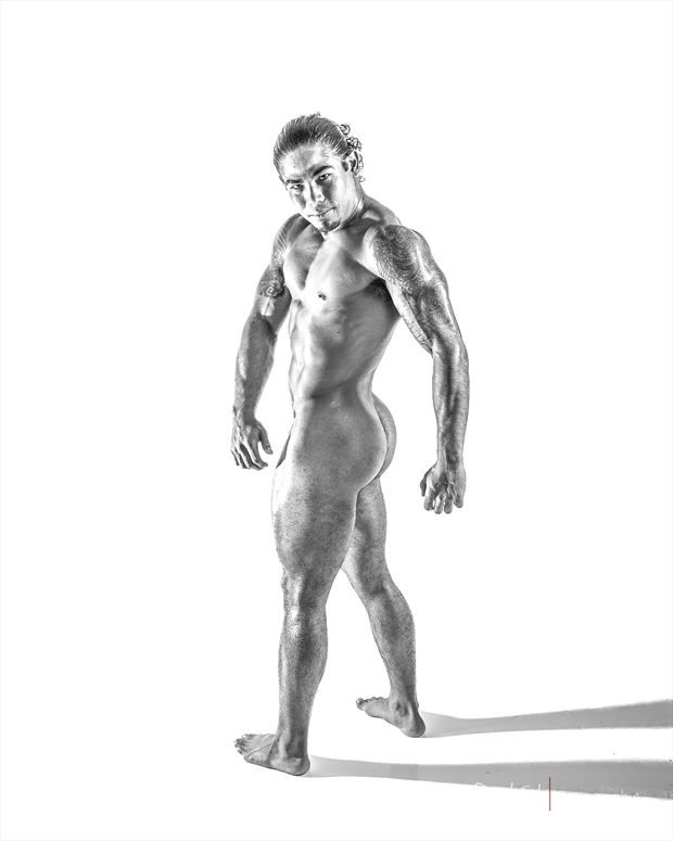 power pose studio lighting photo print by photographer doclist