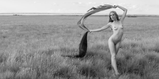 prairie beauty artistic nude photo print by photographer opp_photog