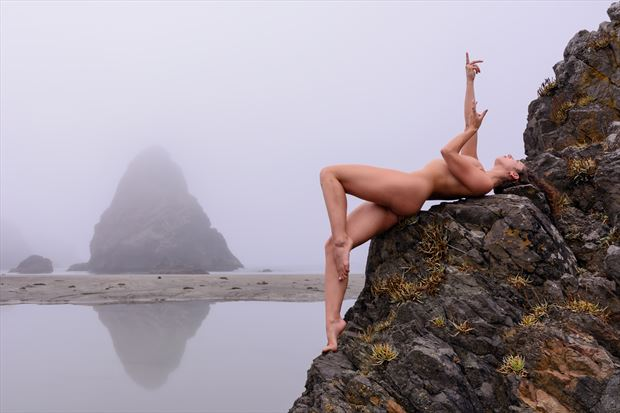 primal elements artistic nude photo print by photographer philip turner