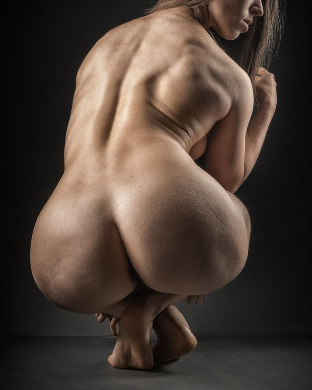 quite a feat artistic nude photo print by photographer rick jolson