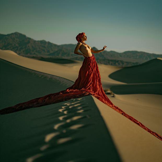 rachelle summers dunes dress fashion photo print by photographer jhp