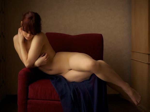 ravyn artistic nude photo print by photographer lumigraphics