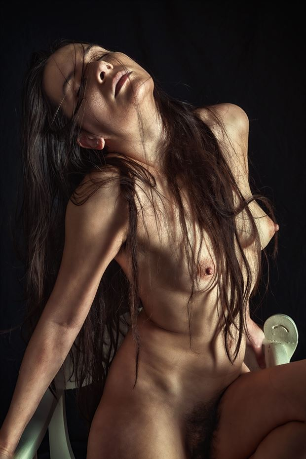 reaching for the light artistic nude photo print by photographer rick jolson