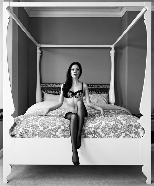 rebecca s symmetry lingerie photo print by photographer ian cartwright