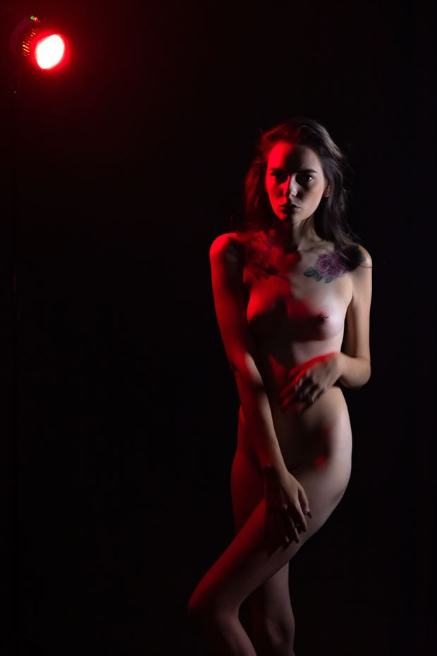red light artistic nude photo print by photographer lamont s art works