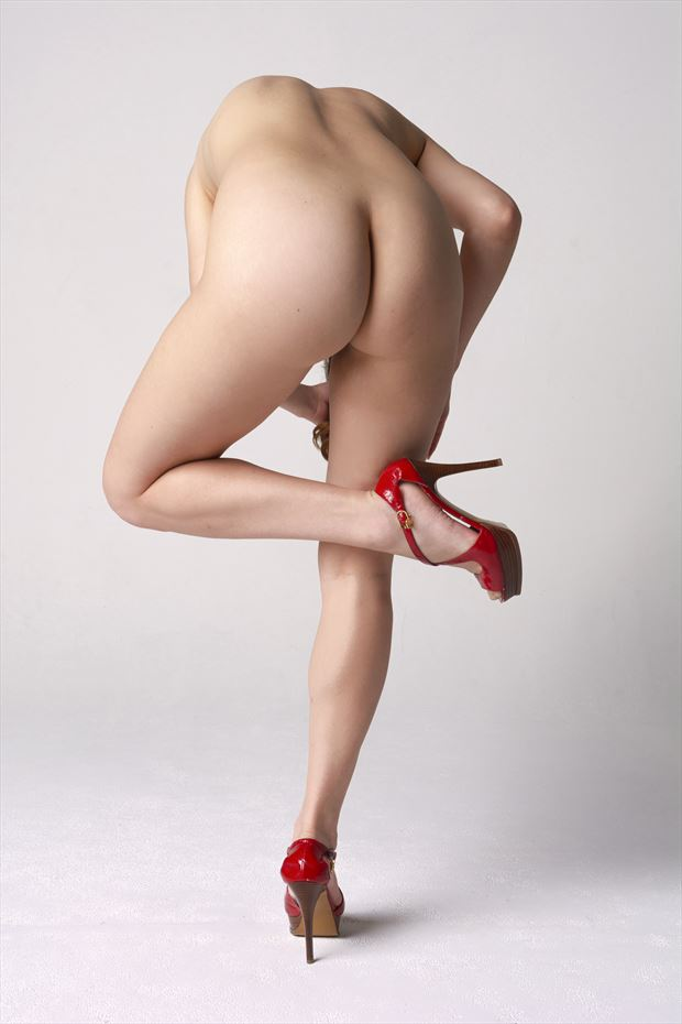 red shoes artistic nude photo print by photographer philip turner