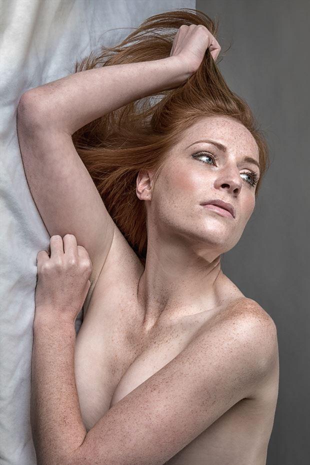 redhead studio lighting photo print by photographer rick jolson