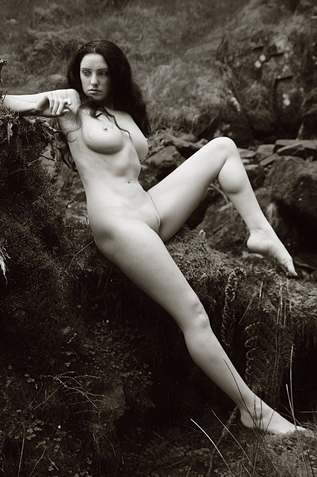 relaxing nymph artistic nude photo print by photographer photorunner