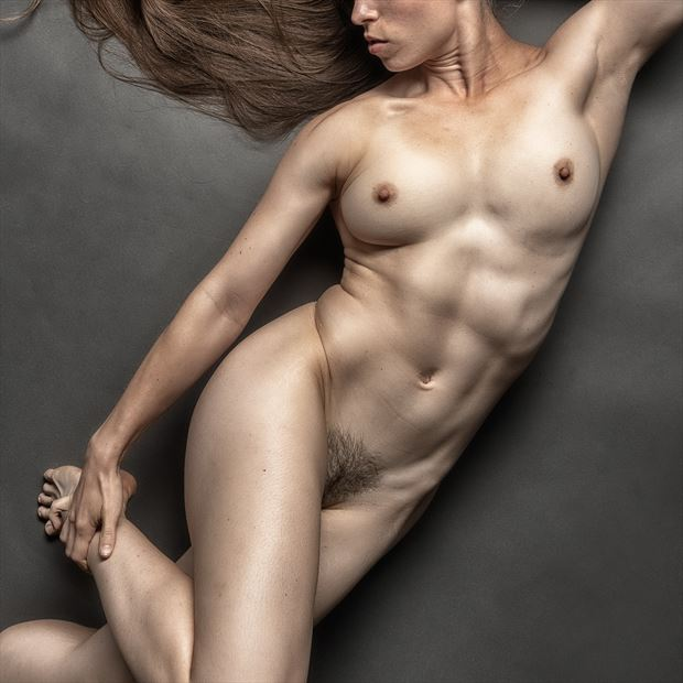 ripped but soft artistic nude photo print by photographer rick jolson
