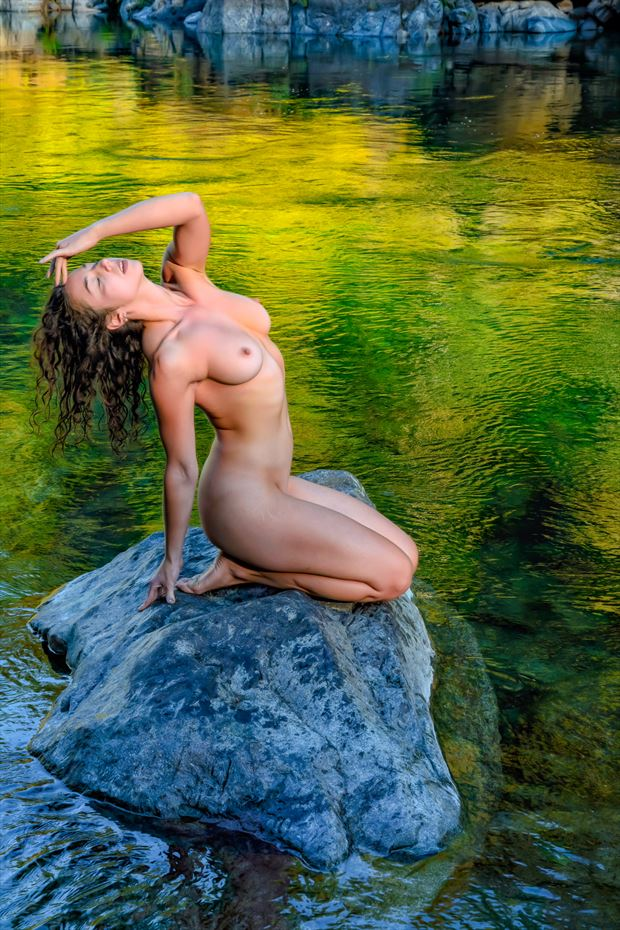 river of dreams artistic nude photo print by photographer philip turner