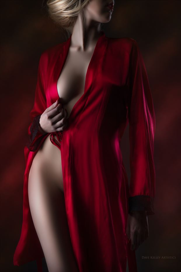 robe Artistic Nude Photo print by Photographer Dave Kelley Artistics