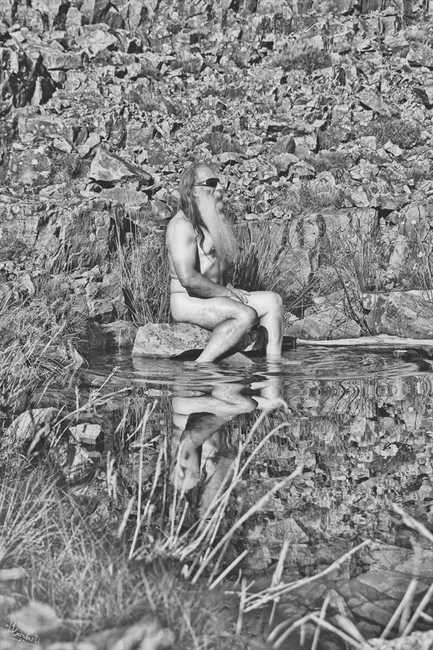 rocker in the rockpool artistic nude photo print by photographer photorunner