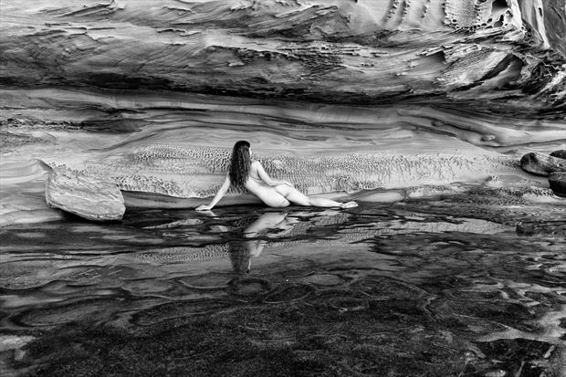 rocky reflections artistic nude photo print by photographer stephen wong