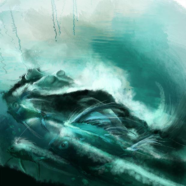 salacia 3 fantasy artwork print by artist nick kozis