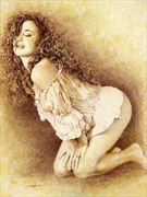 seduction artistic nude artwork print by artist girotto walter